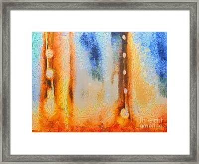 Abstract Lift Off  Framed Print by Pixel Chimp