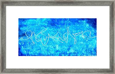 Abstract Light Painting Framed Print by Holly Anderson