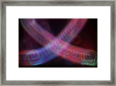 Abstract Light Painting Framed Print by Yali Shi