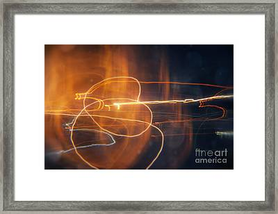 Abstract Light Streaks Framed Print by Pixel Chimp