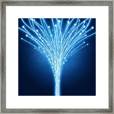 Abstract Lighting Lines Framed Print by Setsiri Silapasuwanchai