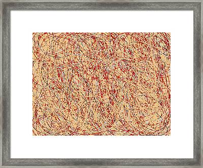 Abstract Line Art Framed Print by Susan Stone