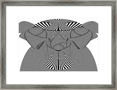 Abstract - Lines - Bad Dog Framed Print by Mike Savad