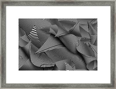 Abstract - Lines - Path To Destruction Framed Print by Mike Savad