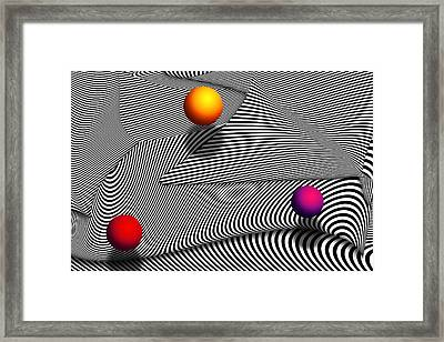 Abstract - Lines - That's A Moire Framed Print by Mike Savad