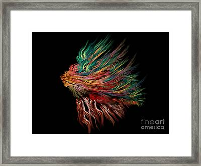 Abstract Lion's Head Framed Print