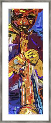 Abstract Live Session Jazz Framed Print