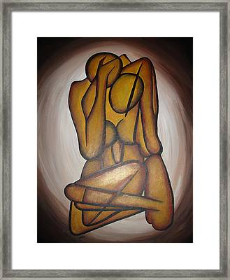 Abstract Lovers Framed Print