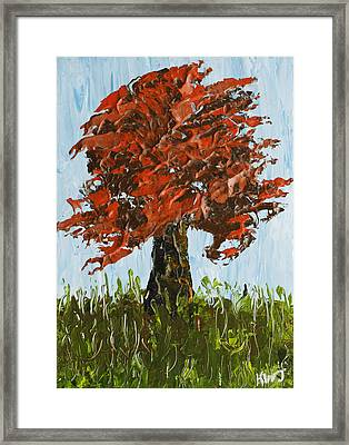Abstract Maple Tree Palette Knife Painting Framed Print by Keith Webber Jr