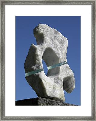 Abstract Marble And Glass Framed Print by Tommy  Urbans