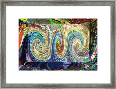 Abstract Marble Stone Shows Beautiful Wave Torndo Pattern Dipcting Colors Go  Deep Insite The Dept   Framed Print