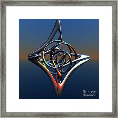 Framed Print featuring the digital art Abstract Metal by Melissa Messick