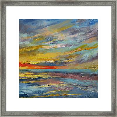 Abstract Framed Print by Michael Creese
