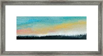Abstract Minimalist Horizon Framed Print