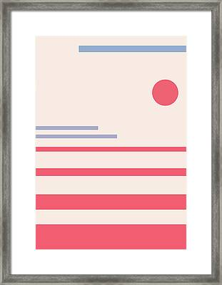 Abstract Minimalistic Landscape Framed Print