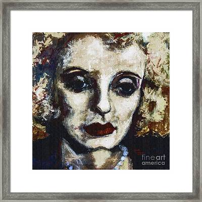 Abstract Modern Bette Davis Framed Print by Ginette Callaway
