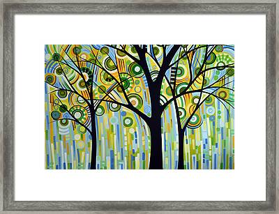 Abstract Modern Tree Landscape Spring Rain By Amy Giacomelli Framed Print by Amy Giacomelli