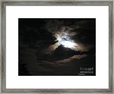 Abstract Moon Framed Print by Greg Patzer