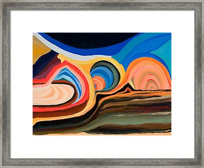 Abstract Mountain And Seascape Framed Print