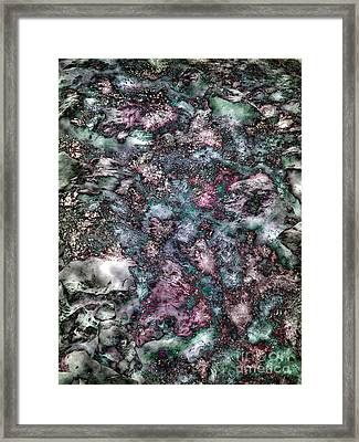 Abstract Mountain Creek Framed Print by Angela Bruno