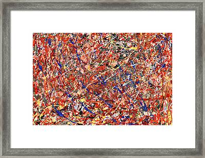 Abstract - Nail Polish - Clown Suicide Framed Print by Mike Savad