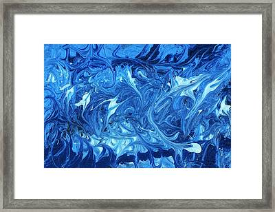 Abstract - Nail Polish - Ocean Deep Framed Print by Mike Savad