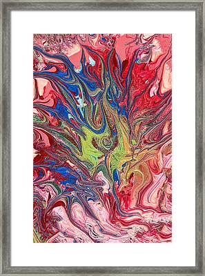Abstract - Nail Polish - The Meaning Of Life Framed Print