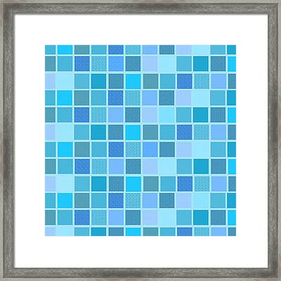 Abstract Nautical Squares Framed Print by Celestial Images