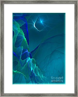 Abstract Night - Digital Art By Giada Rossi Framed Print