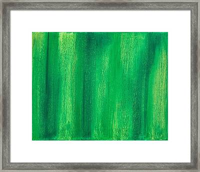 Abstract No 6 Omittit Verba Hostem Framed Print by Brian Broadway