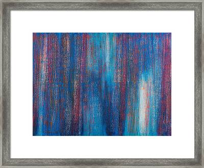 Abstract No 7 Beati Qui Vident Framed Print