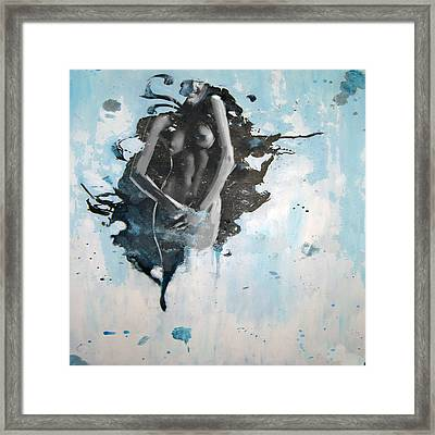 Abstract Nude 14 Framed Print by Mahnoor Shah