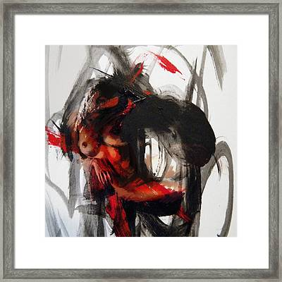 Abstract Nude 16 Framed Print by Mahnoor Shah