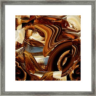 Abstract Number 099 - Onyx Drapery Framed Print