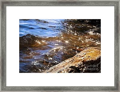 Abstract Of A Lake Shore Framed Print