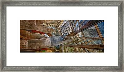 Abstract Of Architectual Expression Framed Print by Ron Harris