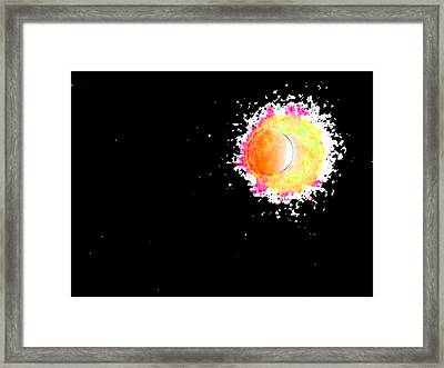 Abstract Of Eclipse Framed Print