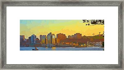 Abstract Of Halifax Framed Print by John Malone