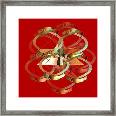 Abstract On Red Series 4 Framed Print by Linda Phelps