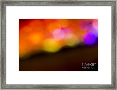 Abstract Orange Yellow Purple Framed Print by Marvin Spates