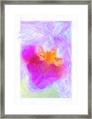 Abstract Orchid Pastel Framed Print