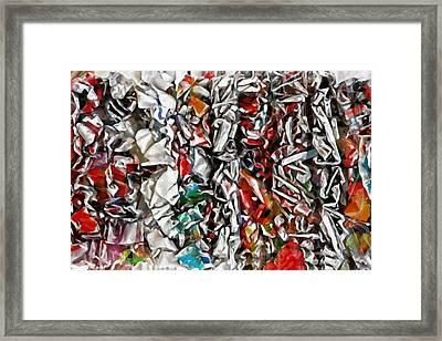 Abstract Order Framed Print by Lutz Baar
