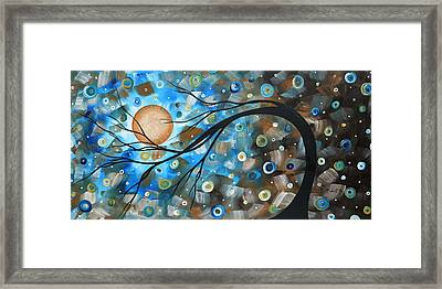 Abstract Original Landscape Art In A Trance Art By Madart Framed Print by Megan Duncanson