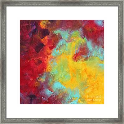 Abstract Original Painting Colorful Vivid Art Colors Of Glory I By Megan Duncanson Framed Print by Megan Duncanson