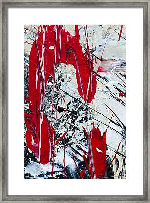 Abstract Original Painting Untitled Nine Framed Print