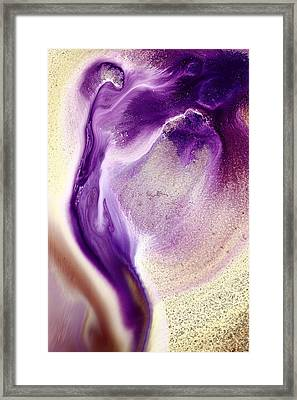 Abstract Original Purple Cobra By Kredart Framed Print