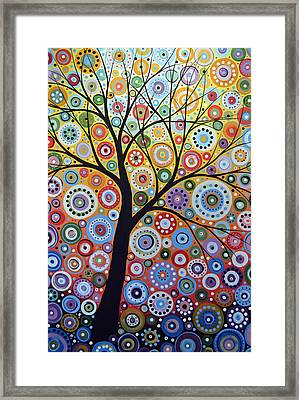 Abstract Original Tree Art Painting ... Sun Arising Framed Print by Amy Giacomelli