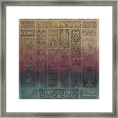 Abstract Ornamental Motif With Absratct Mood Framed Print