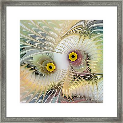 Abstract Owl Framed Print