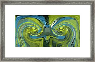Abstract Owl Portrait Framed Print by Ben and Raisa Gertsberg